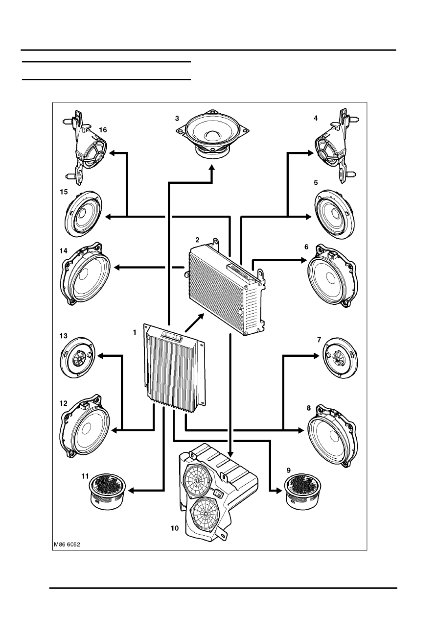 ENTERTAINMENT AND INFORMATION SYSTEMS > Logic 7 Speaker Control Diagram