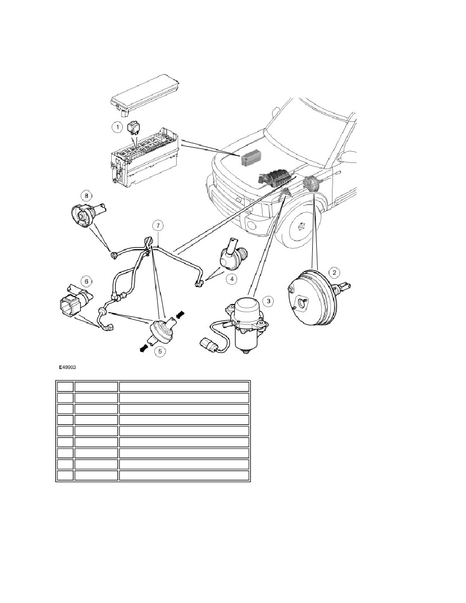 Land Rover Workshop Manuals Lr3 Disco 3 206 07 Power Brake 2007 Engine Diagram Actuation Description And Operation Booster Page 569