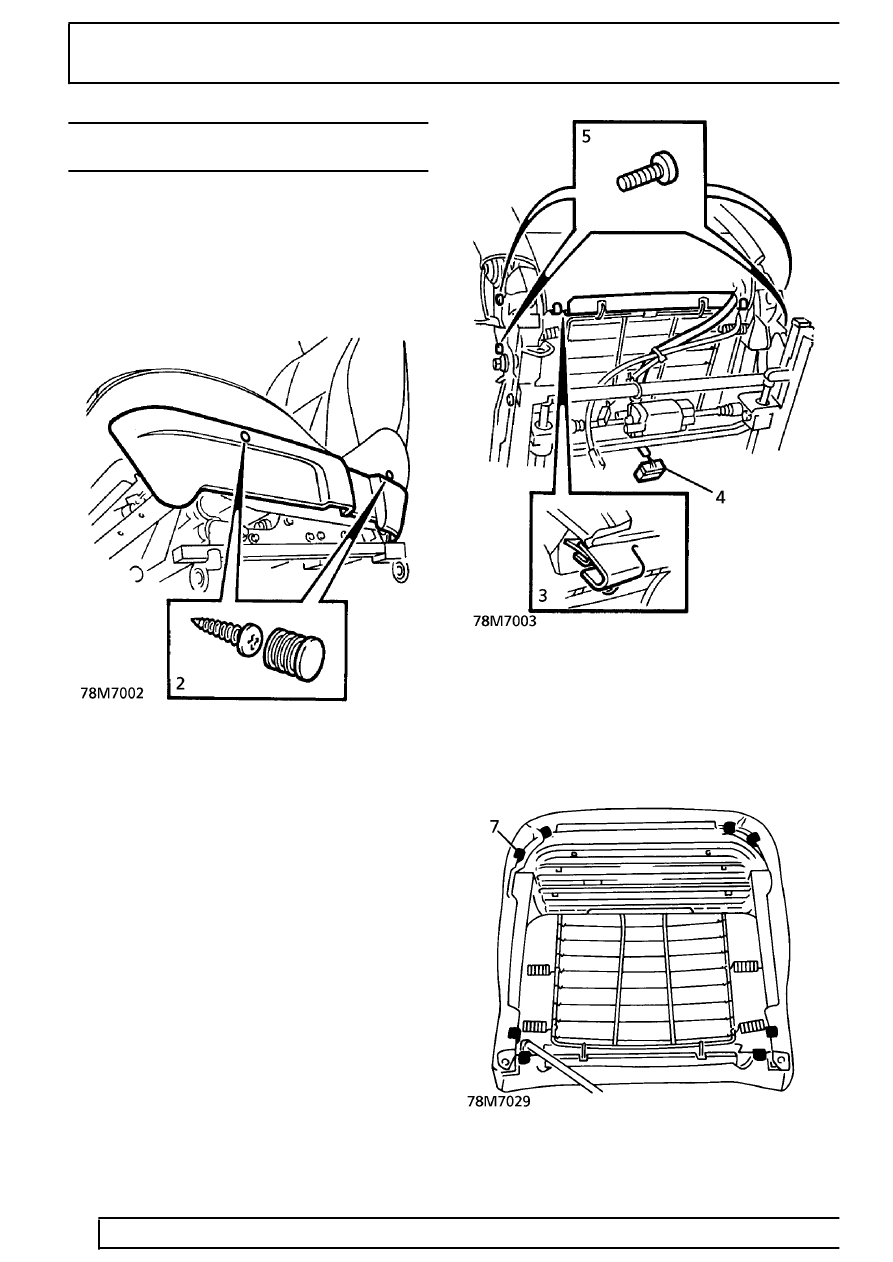78 - SEATS > REPAIR > HEATING ELEMENT - CUSHION - FRONT SEAT - up to 99MY