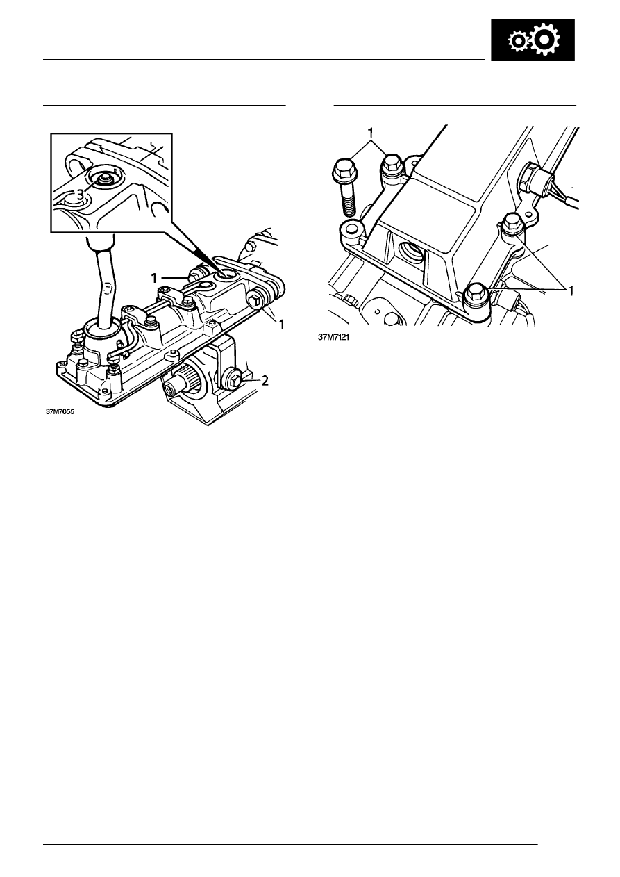 MANUAL GEARBOX > OVERHAUL > Remote gear change - Type D gearbox - Remove