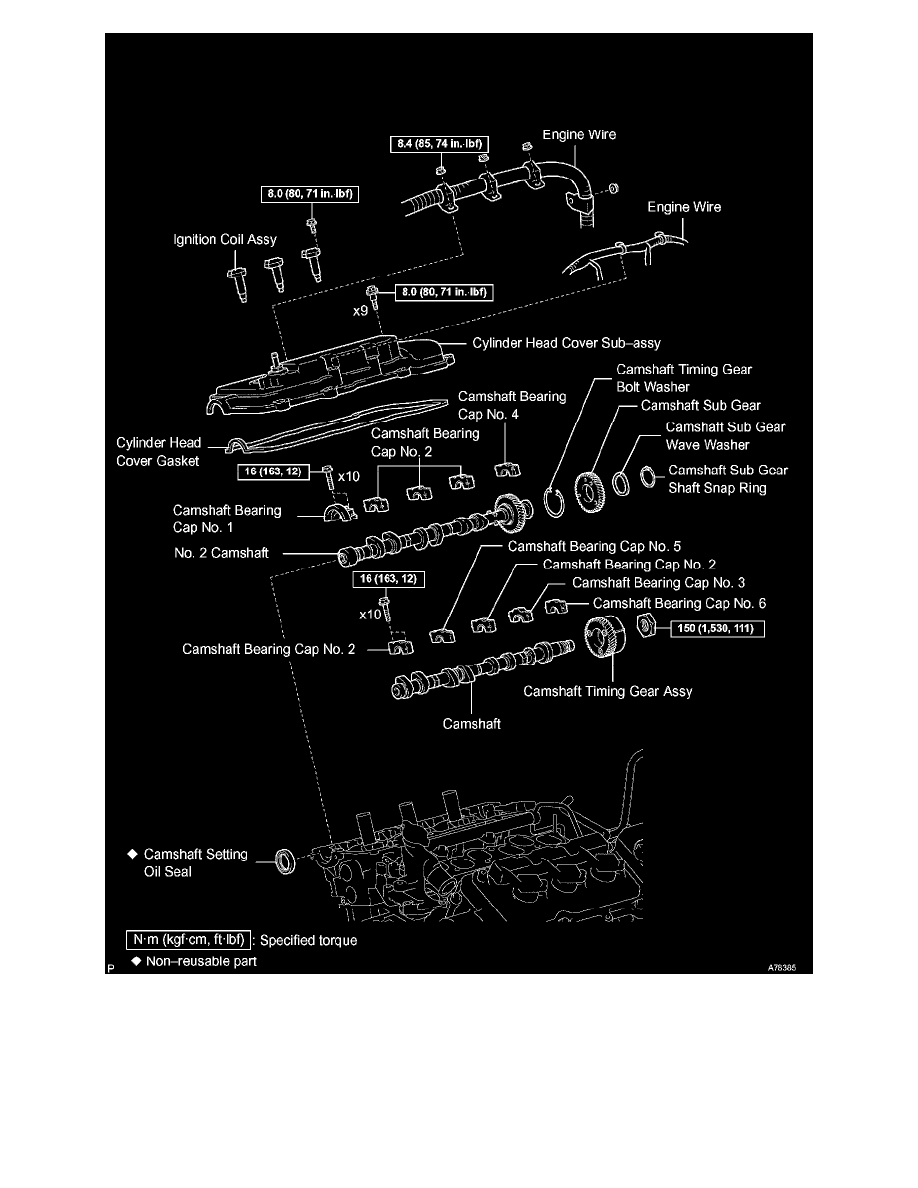 Engine, Cooling and Exhaust > Engine > Camshaft, Lifters and Push Rods >  Camshaft, Engine > Component Information > Diagrams > Camshaft (RH) > Page  1514