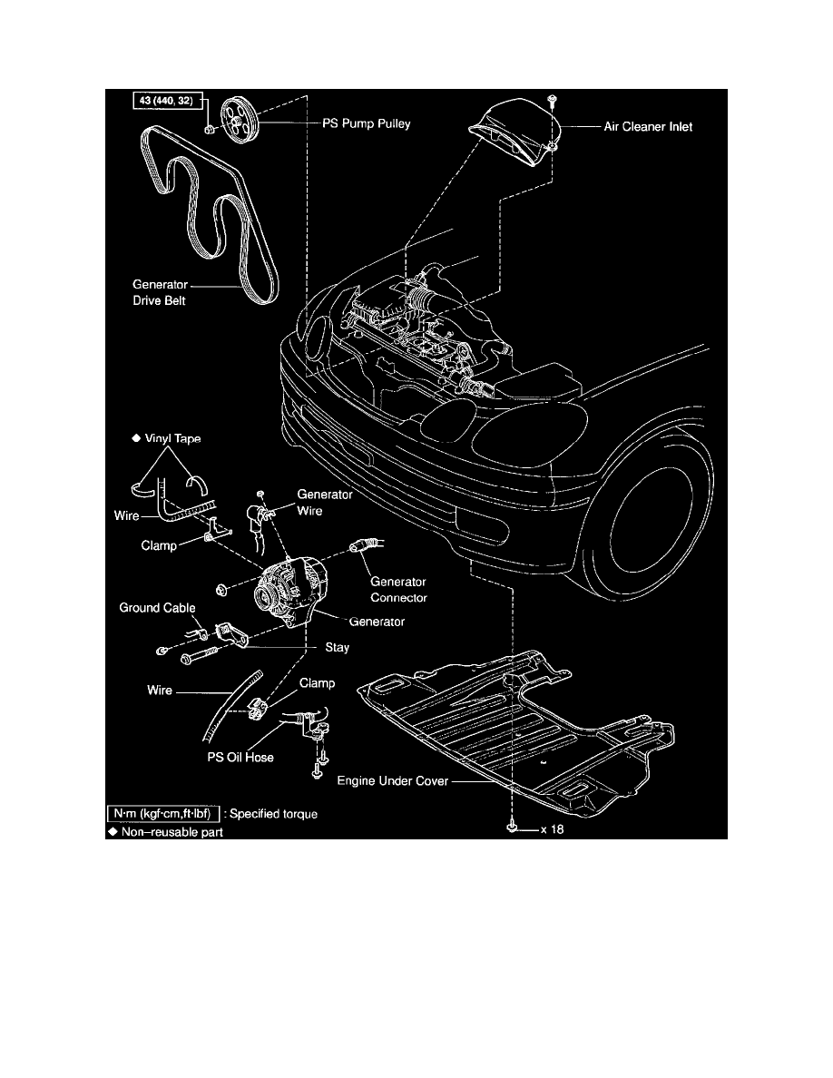 Starting and Charging > Charging System > Generator <--> [Alternator] >  Component Information > Service and Repair > Removal and Installation