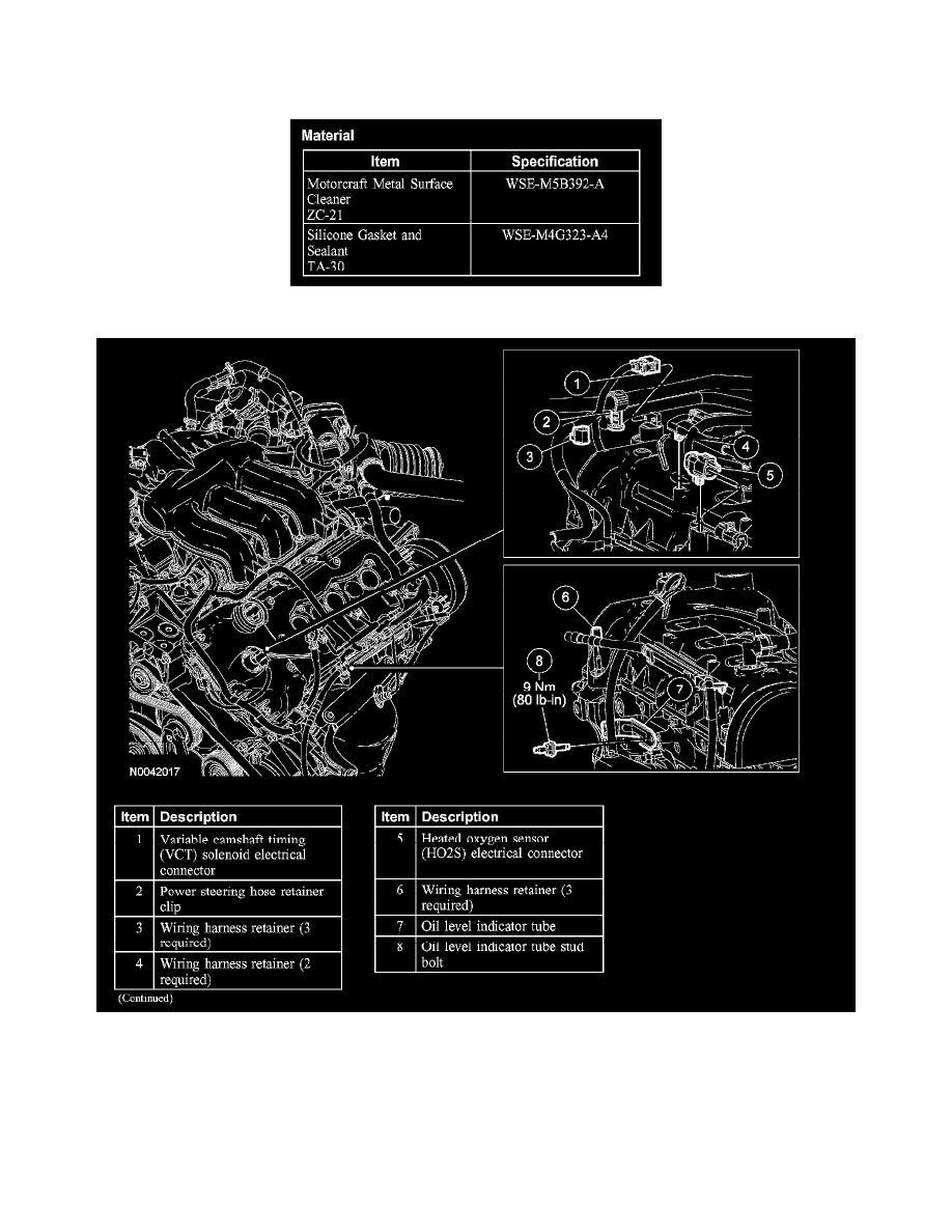 Lincoln Workshop Manuals Zephyr V6 30l Vin 1 2006 Engine Wiring Harness Connectors Cooling And Exhaust Cylinder Head Assembly Valve Cover Component Information Service Repair Lh