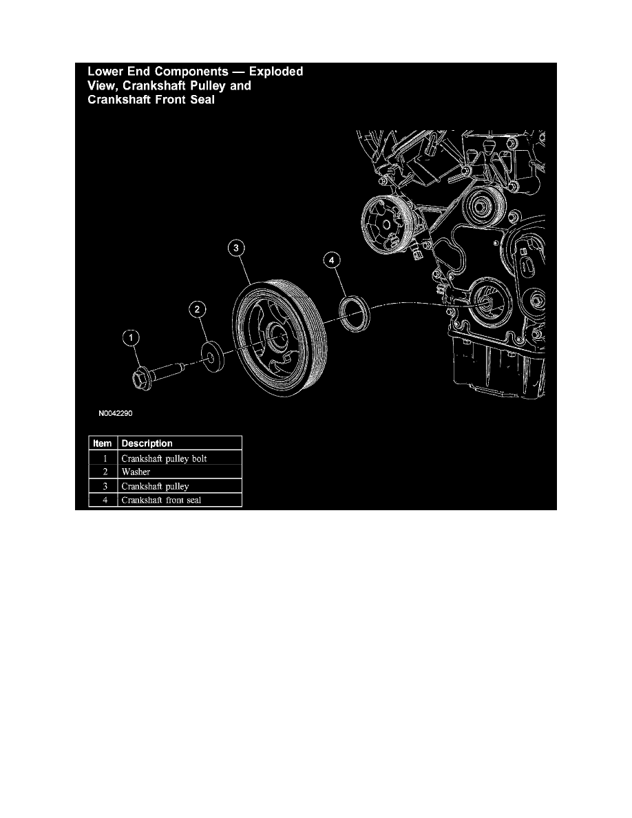 engine, cooling and exhaust > engine > seals and gaskets, engine > front  crankshaft seal > component information > diagrams