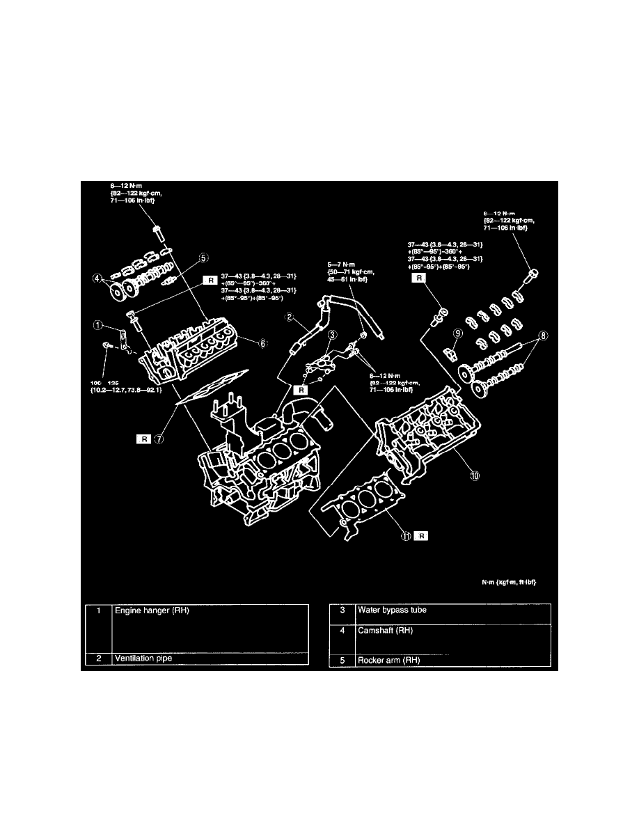 Mazda Workshop Manuals Mpv Es V6 25l Dohc 2001 Engine Diagram Cooling And Exhaust Seals Gaskets Cylinder Head Gasket Component Information Diagrams Page 1081
