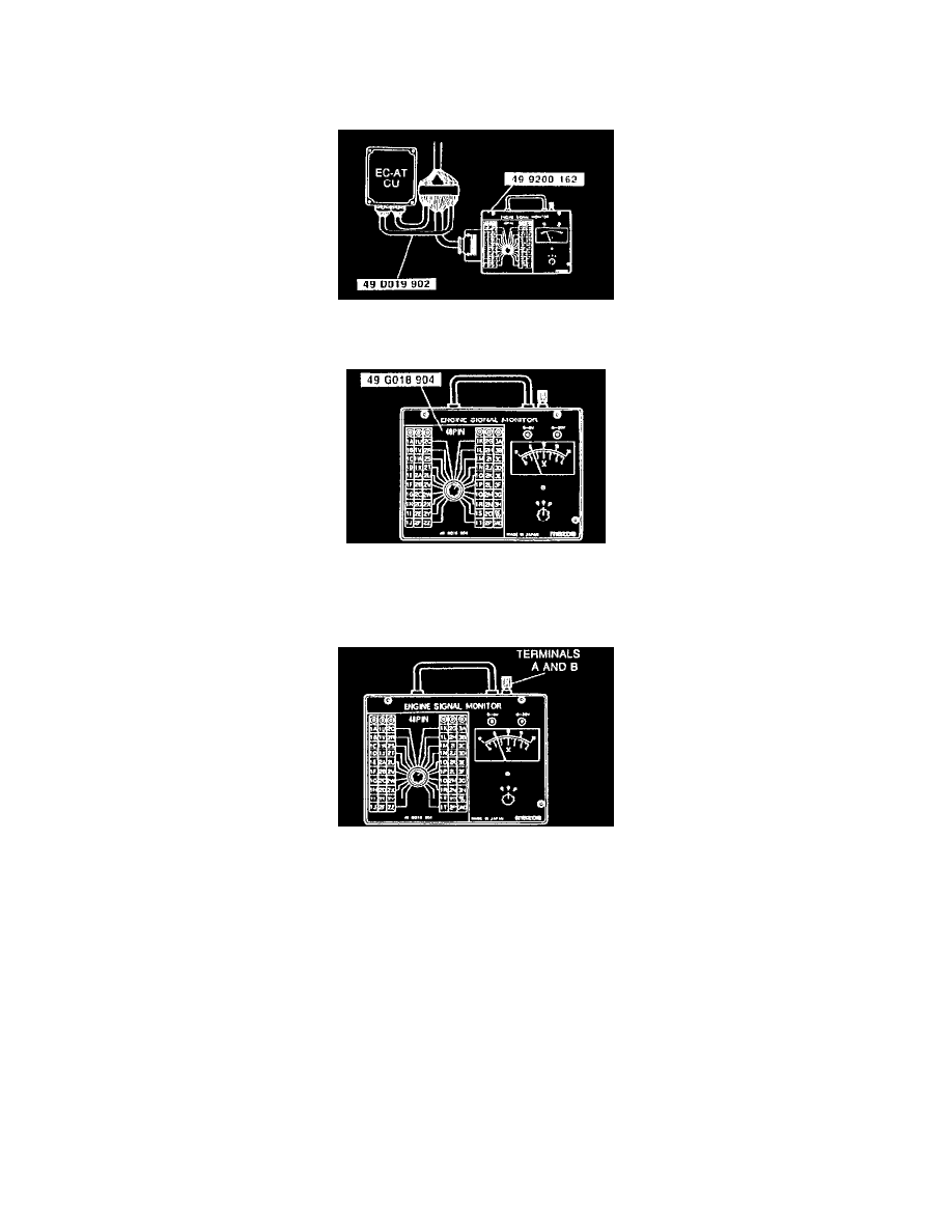 Mazda Workshop Manuals Mx 3 V6 1844cc 18l Dohc 1993 Engine Diagram Transmission And Drivetrain Automatic Transaxle Relays Modules A T Control Module Component Information Diagrams Page
