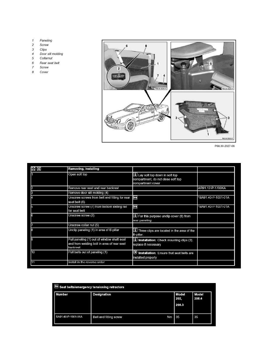 Body and Frame > Interior Moulding / Trim > Trim Panel > Component  Information > Service and Repair > AR68.30-P-4050K Remove/Install Paneling  on A-Pillar > ...
