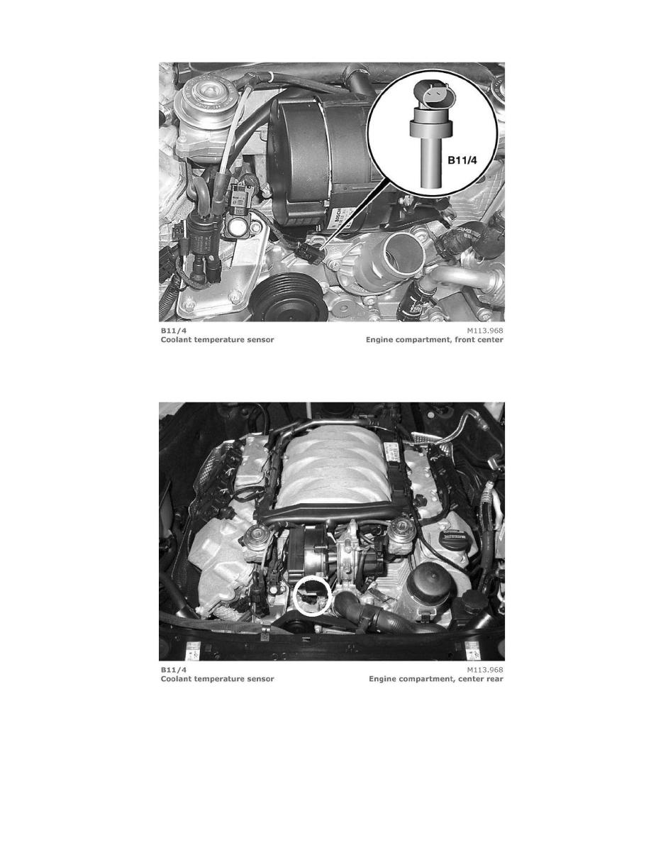 Mercedes Benz Workshop Manuals Clk 500 Cabriolet 209475 V8 50l Engine Coolant Page 1116001