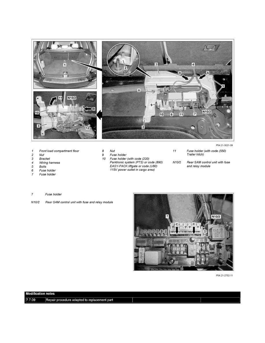 ... Relay Box > Component Information > Service and Repair >  AR54.21-P-1260CW Remove/Install Left Front SAM Control Unit With Fuse And  Relay Box > Page 409