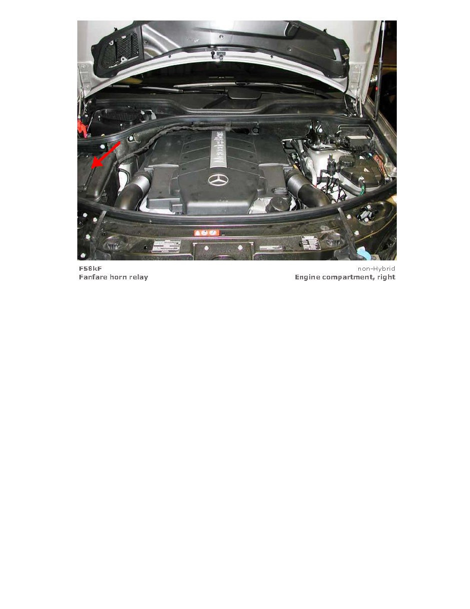 Mercedes Benz Workshop Manuals Ml 350 4matic 164186 V6 35l Horn Relays And Modules Lighting Horns Relay Component Information Locations Page 909
