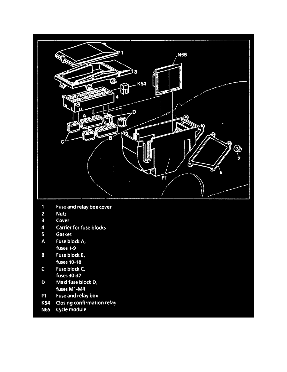 Mercedes Benz Workshop Manuals Slk 230 170447 L4 23l Sc Maxi Fuse Box Starting And Charging Power Ground Distribution Relay Boxes Block Component Information Locations