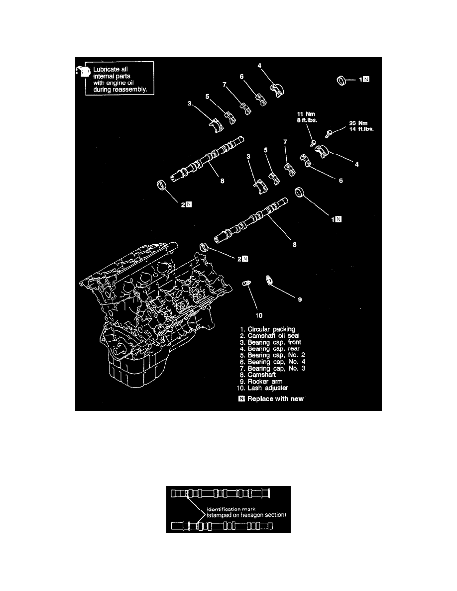 Mitsubishi Workshop Manuals 3000gt Convertible V6 2972cc 30l Dohc 1996 Mark 8 Engine Diagram Cooling And Exhaust Camshaft Lifters Push Rods Rocker Arm Assembly Component Information Service Repair Removal Of