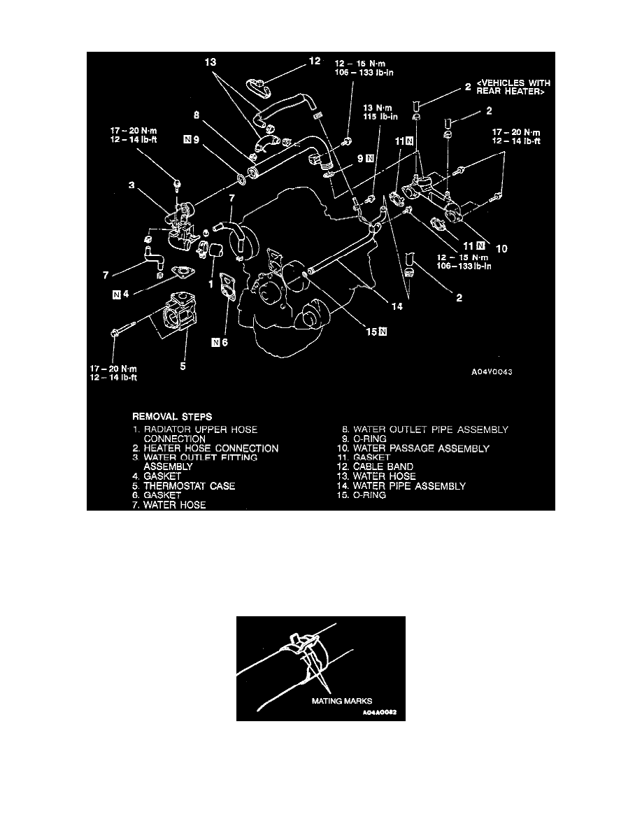 Engine, Cooling and Exhaust > Cooling System > Radiator Hose > Component  Information > Specifications > Page 1903