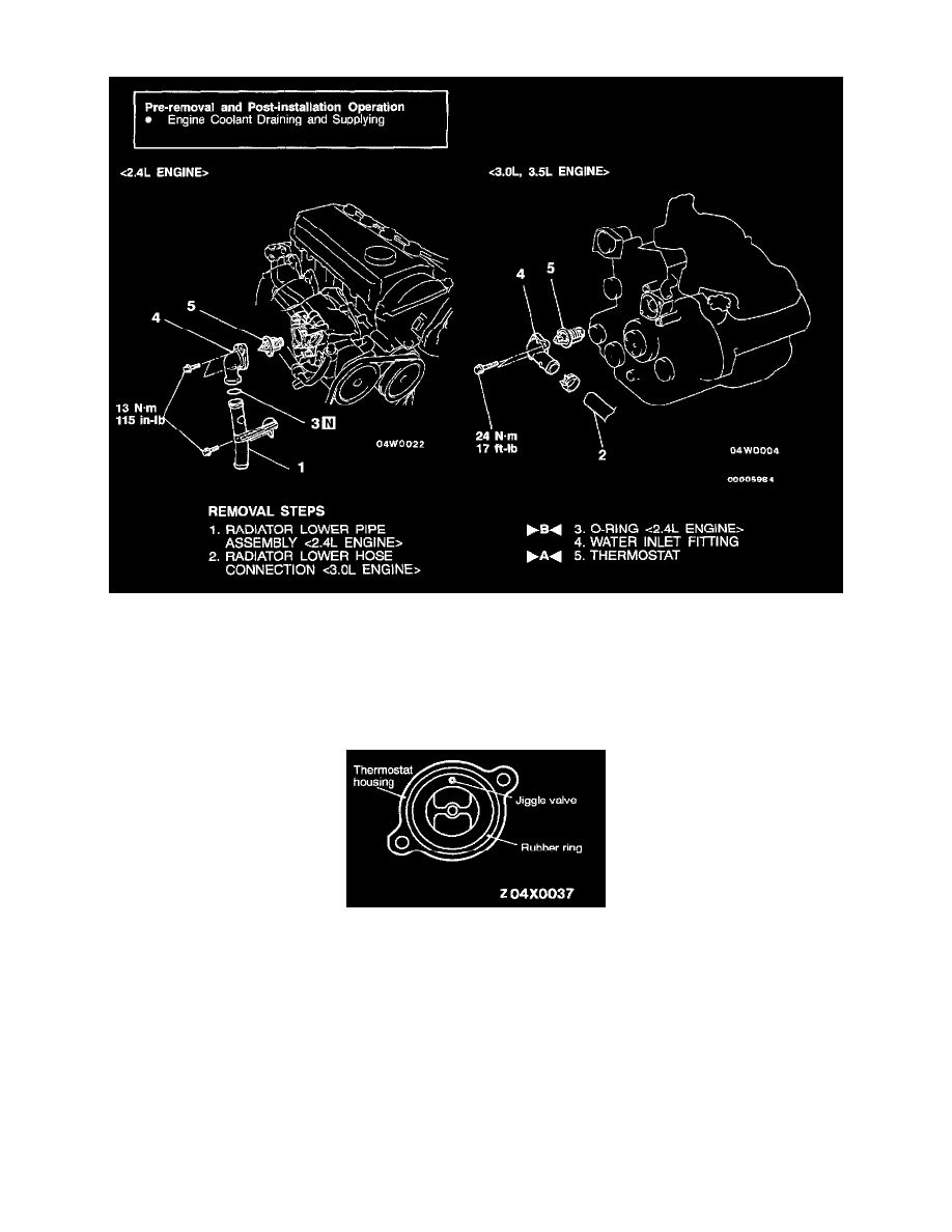 Engine, Cooling and Exhaust > Cooling System > Thermostat, Engine Cooling >  Component Information > Specifications > Page 1753