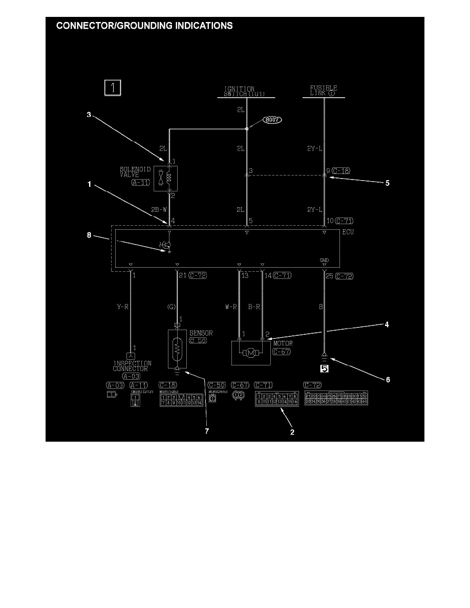 Circuit Electric For Guide  2007 Mitsubishi Outlander Engine Diagram