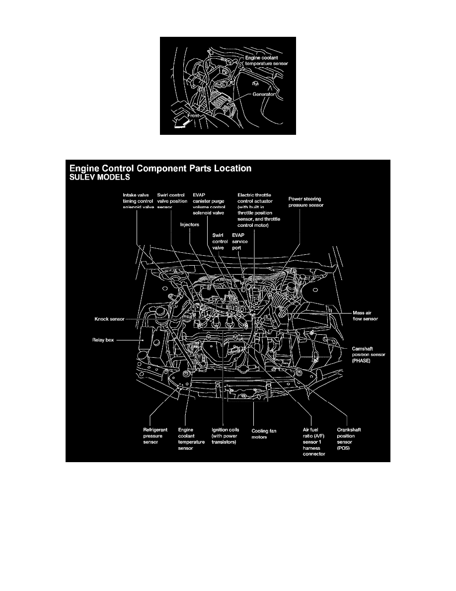 2004 Nissan Sentra 1 8 Engine Diagram 2002 Cooling And Exhaust System Coolant Temperature Sensor Switch