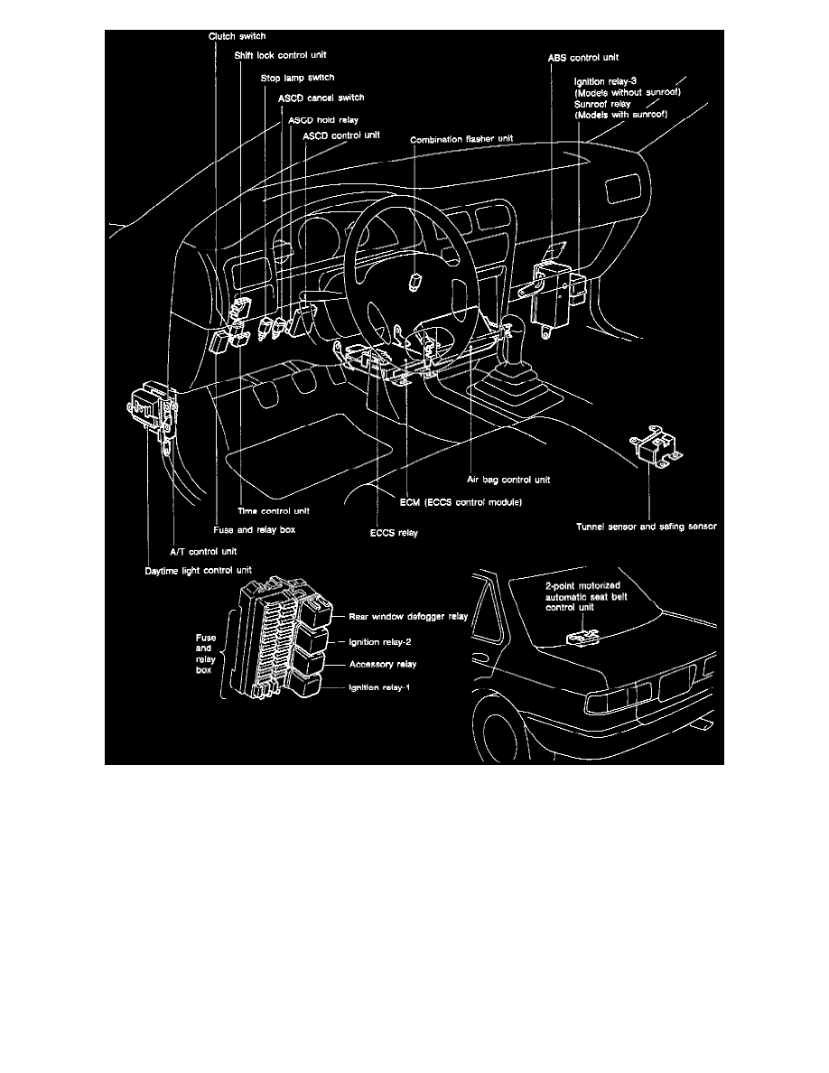 Nissan Sentra Service Manual: Moonroof switch
