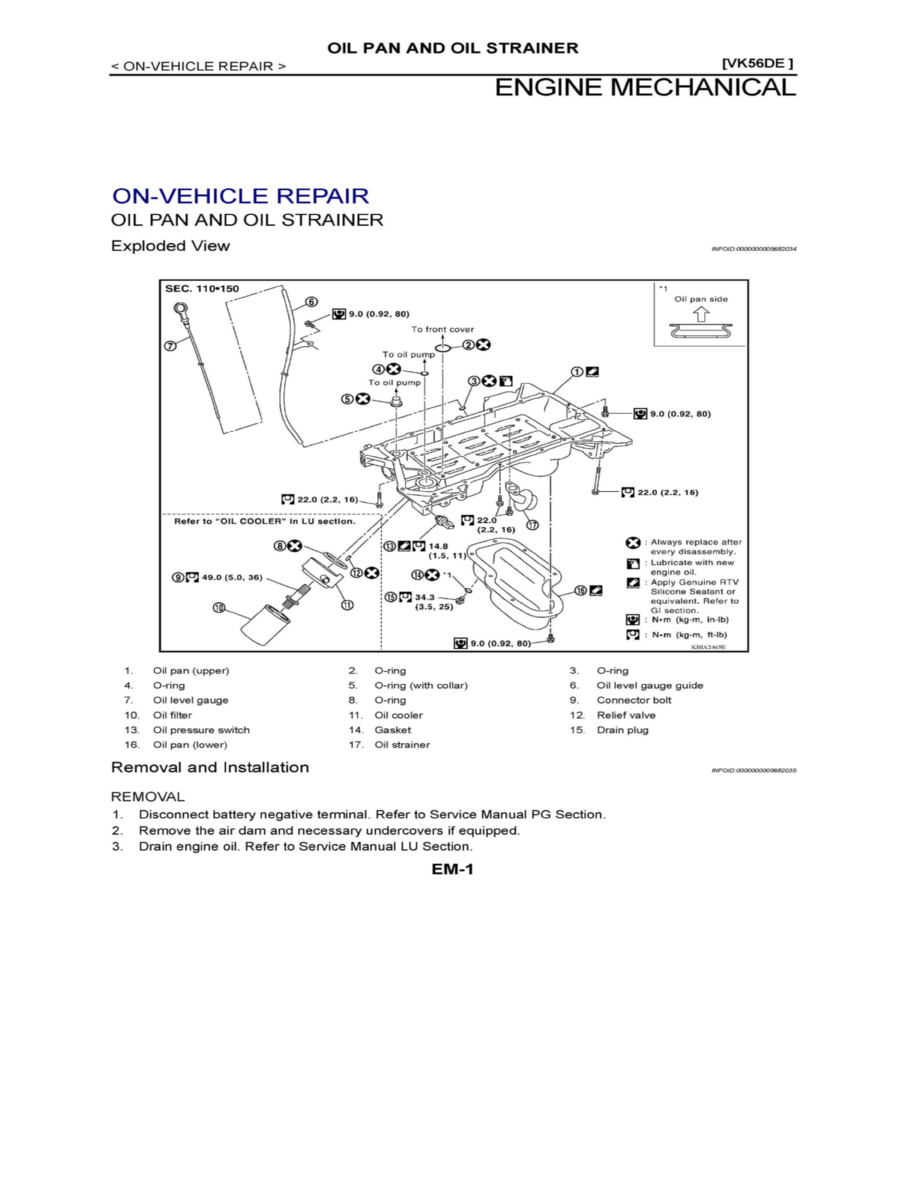 Vk56 Engine Diagram Wiring Library Nissan Cooling And Exhaust Timing Components Cover Component Information