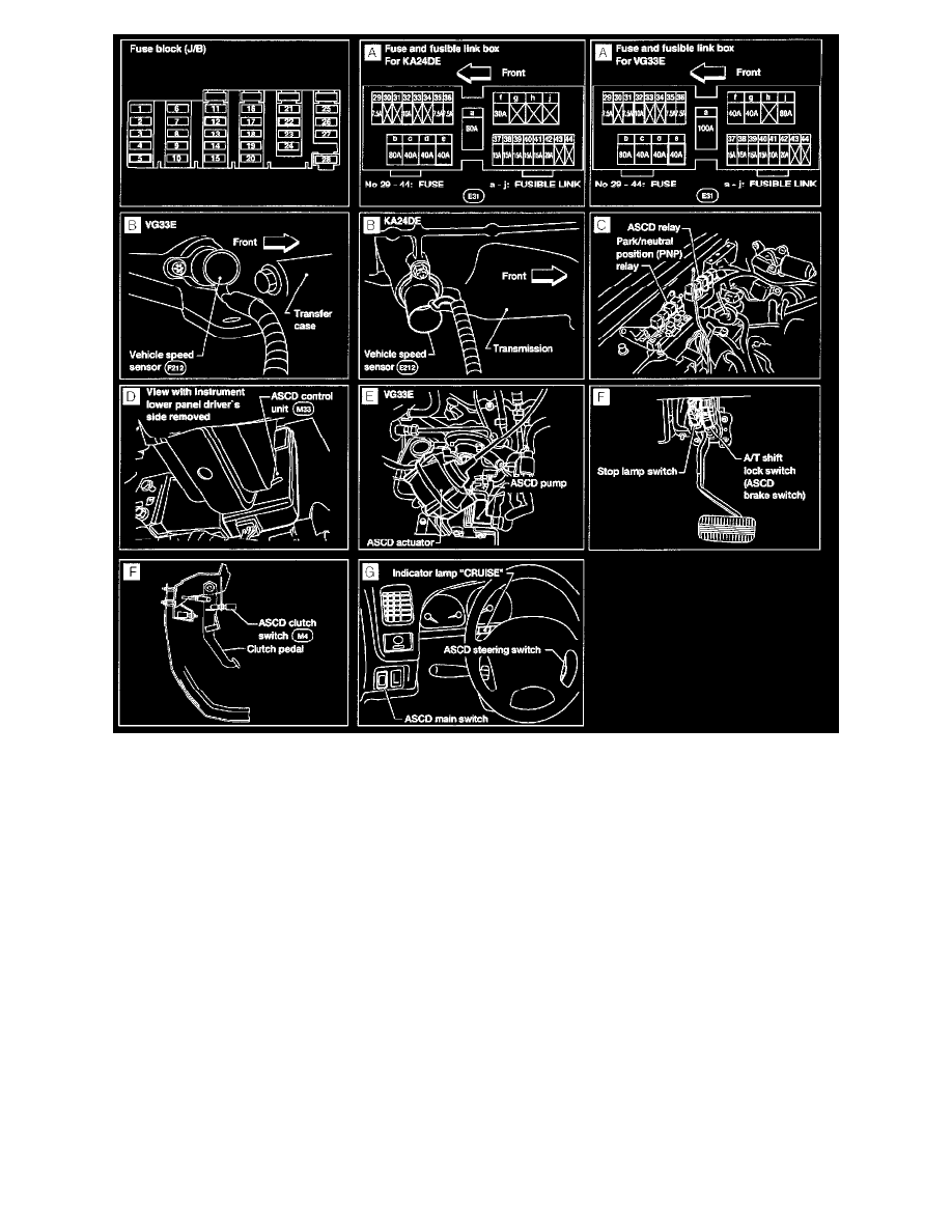 Nissan And Datsun Workshop Manuals Xterra Se 4wd V6 33l Vg33e Cruise Control Diagram Relay Component Information Locations Ascd Page 10975