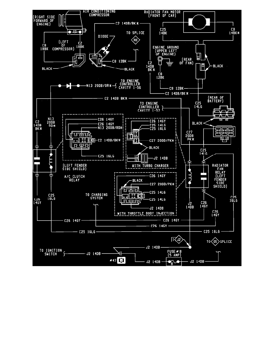 Relays and Modules > Relays and Modules - Cooling System > Radiator Fan  Relay <--> [Radiator Cooling Fan Motor Relay] > Component Information >  Diagrams > ...