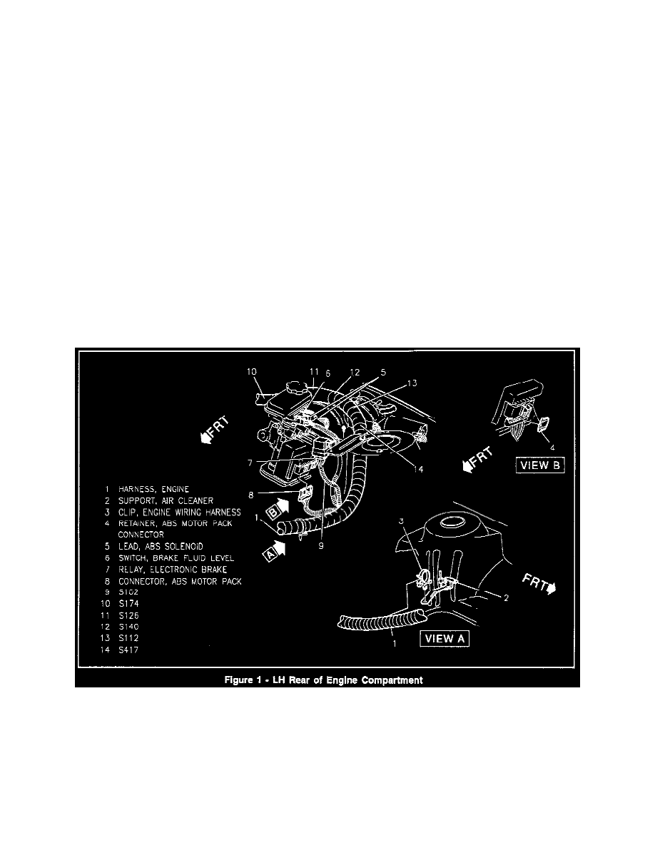 Pontiac Workshop Manuals Grand Am L4 138 23l Dohc Vin D Mfi 1994 Abs Module And Traction Control Main Relay Component Information Technical Service Bulletins Electronic Brake Revised Location