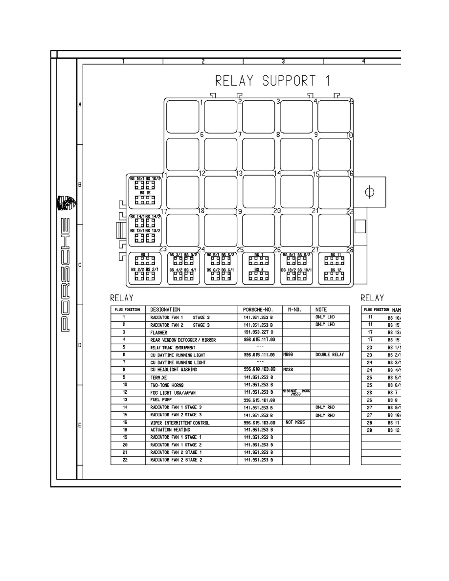 porsche 996 relay diagram all kind of wiring diagrams u2022 rh universalservices co