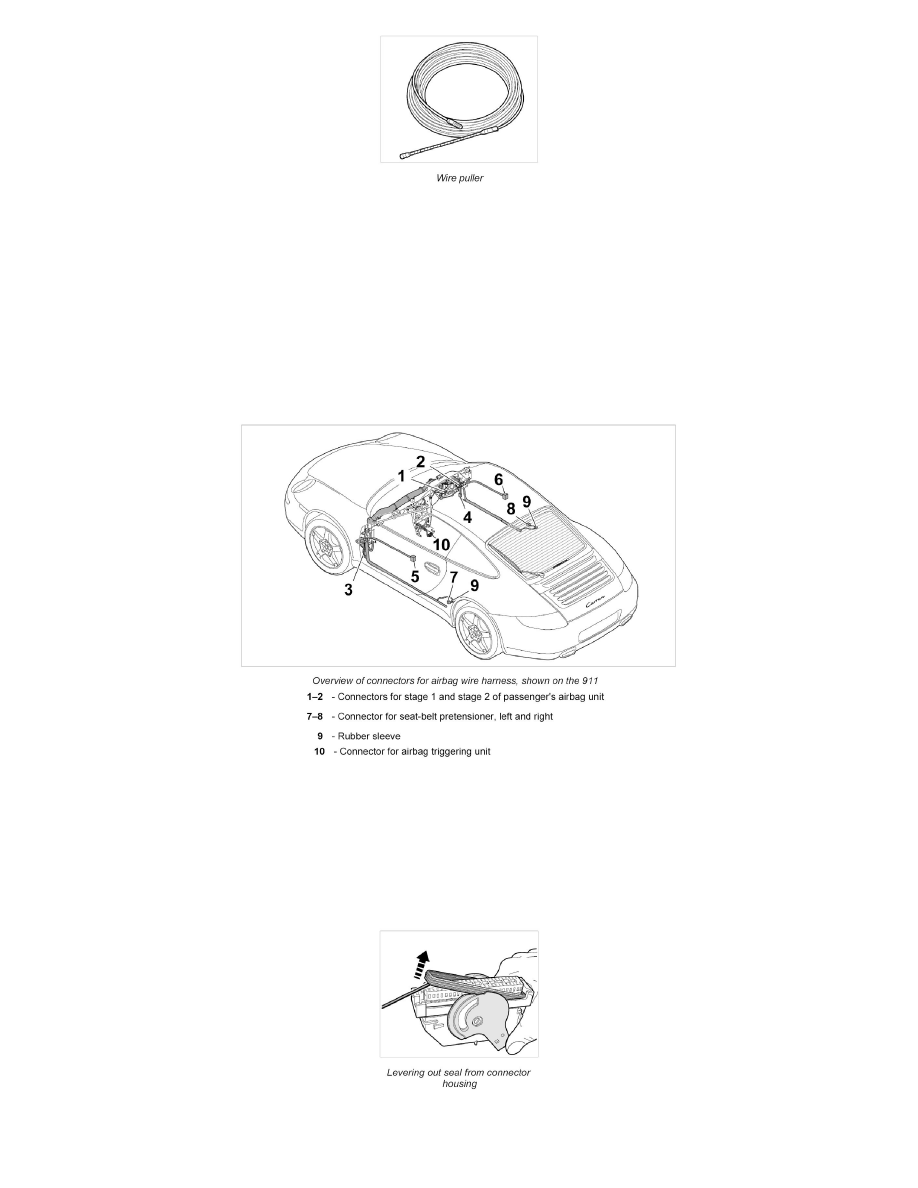Porsche Workshop Manuals Boxster S 987 F6 34l 2008 Starting Seal Wire Harness And Charging Power Ground Distribution Wiring Component Information Service Repair Procedures Page 2810