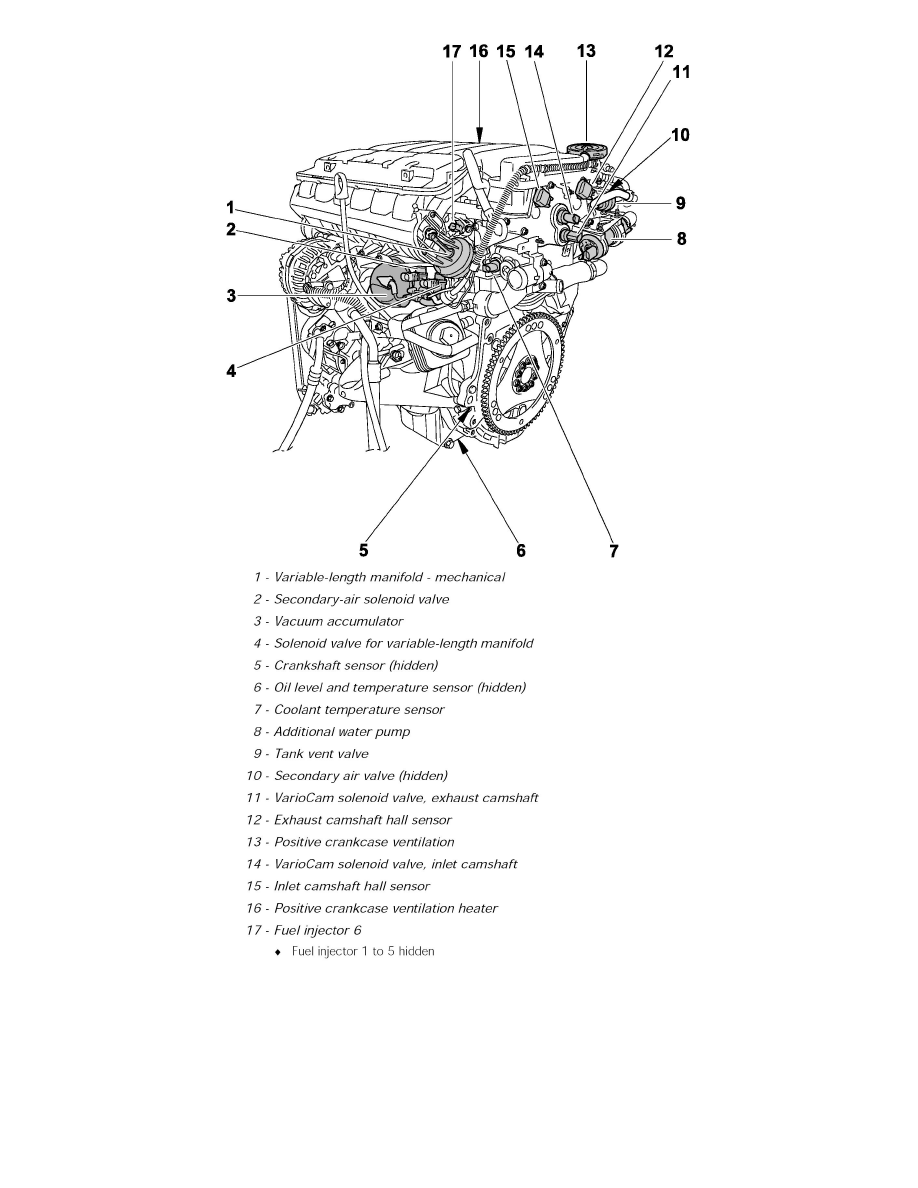 Engine, Cooling and Exhaust > Engine > Sensors and Switches - Engine > Oil  Temperature Sensor/Switch, Engine > Component Information > Locations >  Engine, ...