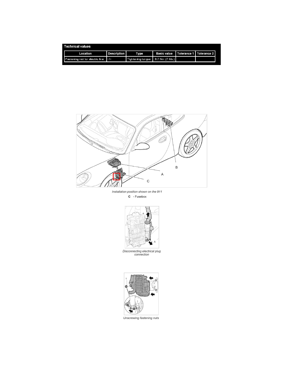 Maintenance > Fuses and Circuit Breakers > Fuse Block > Component  Information > Diagrams > Page. Porsche Workshop Manuals > Cayman ...