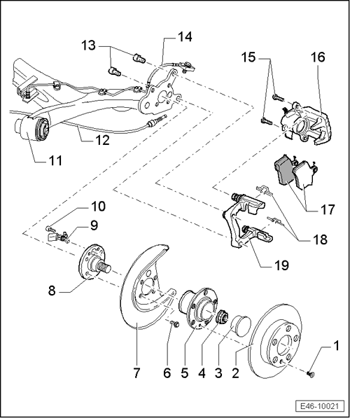 Rear Brake Assembly Diagram