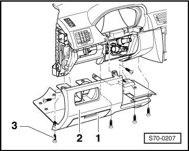 skoda radio wiring diagram with Removing And Installing The Dash Panel on Removing and installing front speed sensor wiring as well Alpine Wiring Harness together with Wiring Diagram Ceiling Fan Light Remote Control furthermore Vw Golf Mk4 Fuse Box Diagram in addition Wiring Diagram Daihatsu Taft.