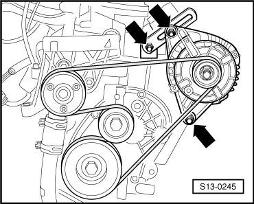 Draining coolant and filling up for engine with engine identification characters bmm together with Removing and installing thermostat also Installing the v Ribbed belt together with Cylinder head summary of  ponents  for engine identification characters aua aub bby bbz also Removing and installing radiator. on skoda engine coolant