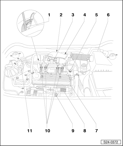 Engine Knock Sensors Schematic