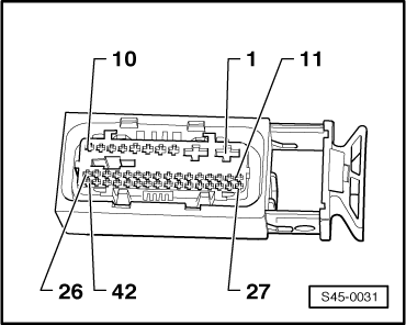 Multi Pin plug connection with contact assignment on 23 pin connector wiring diagram ford