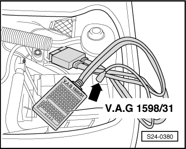 test skoda fabia with Checking The Data Bus Drive on Test  brake light switch f  and  brake pedal switch f47 additionally Removing and installing the control motor of temperature flapv68 also Safety precautions basic information on fault finding and on repairing additionally Testing unit injector valve furthermore Skoda Octavia Engine Diagrams.