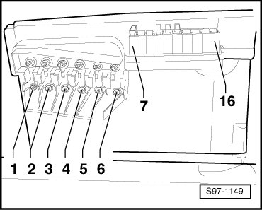 fabia mk1 3267 skoda workshop manuals \u003e fabia mk1 \u003e vehicle electrics skoda fabia fuse box layout diagram at mifinder.co