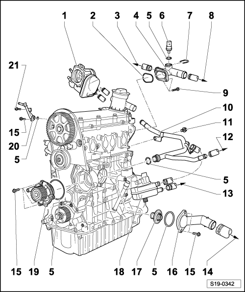 skoda workshop manuals u003e fabia mk1 u003e power unit u003e 2 0 85 kw mpi rh workshop manuals com skoda octavia engine bay diagram skoda octavia engine diagram