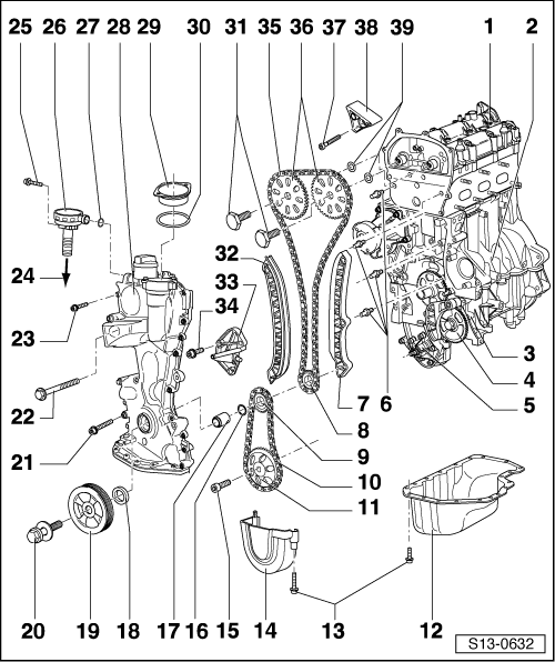 2007 Audi A4 Thermostat in addition Dodge Spirit 1993 Dodge Spirit Timing Diagram as well 98 Ford Explorer Timing Chain Replacement moreover Ford Ranger 1998 Ford Ranger 98 Ford Rnager Timing Belt moreover For engines with identification characters azq bme. on vw 2 5 timing chain