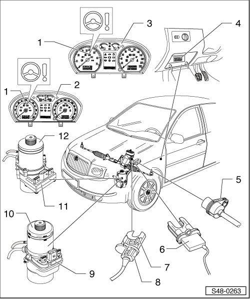fabia mk1 584 skoda workshop manuals \u003e fabia mk1 \u003e chassis \u003e steering \u003e electric skoda fabia power steering wiring diagram at creativeand.co