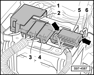 skoda workshop manuals fabia mk2 vehicle electrics electrical Frame Distribution s97 4587