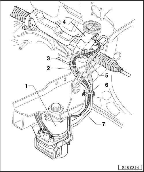 Skoda Workshop Manuals > Fabia Mk2 > Chassis > Steering > Power