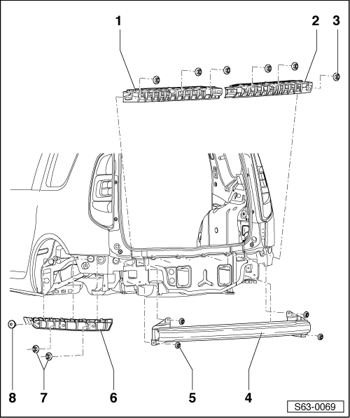 skoda fabia with Summary Of  Ponents Of Rear Bumper Bracket on Fabia 34 I203404117 moreover Page 2 moreover Emplacement Passage Cables Et Fusible Scenic T7089 in addition Fabia 36 I203404111 additionally Summary of  ponents of rear View mirror.