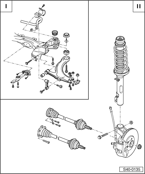 Skoda Workshop Manuals  U0026gt  Octavia Mk1  U0026gt  Chassis  U0026gt  Front Suspension  Drive Shafts  U0026gt  Repairing