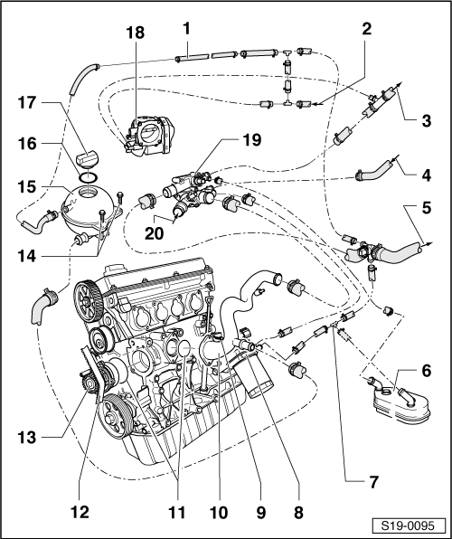 Removing and installing exhaust turbocharger for engine agr with attached parts in addition 714 Elektronik Ate C5 9Fleme Montaj besides Ford Escape Jack Location besides Index in addition Summary of  ponents for engine with identification characters bls. on skoda engine diagram