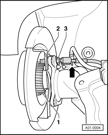 Removing_and_installing_parts_of_the_abs_system_on_the_rear_axle_(disc_brake_and_drum_brake)_front Wheel_drive
