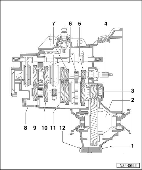 skoda workshop manuals u003e octavia mk1 u003e power transmission u003e 5 speed rh workshop manuals com Ford Explorer Transmission Diagram Simple Transmission Diagram