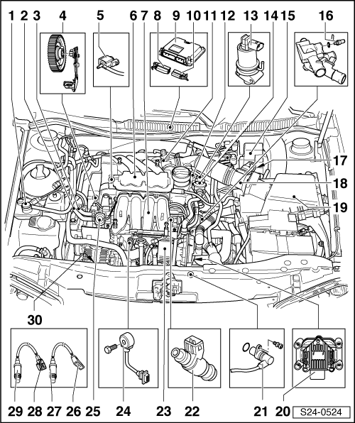 skoda workshop manuals  u0026gt  octavia mk1  u0026gt  power unit  u0026gt  1 6  74