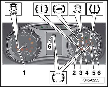 skoda workshop manuals octavia mk2 brake systems abs adr tcs edl esp indication of. Black Bedroom Furniture Sets. Home Design Ideas