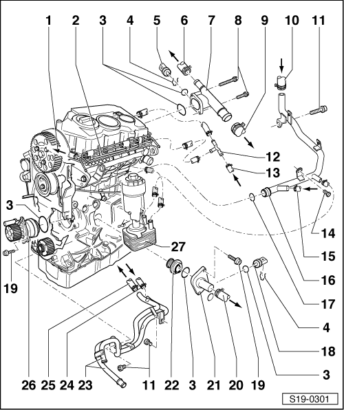 skoda engine diagrams skoda workshop manuals > octavia mk2 > drive unit > engine ...