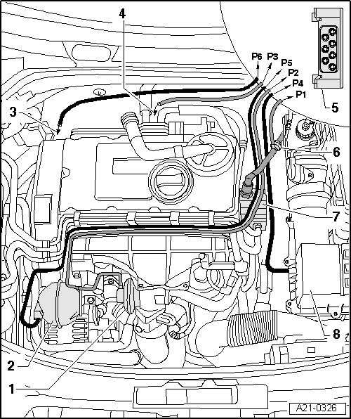 skoda workshop manuals u003e octavia mk2 u003e drive unit u003e engine 2 0 103 rh workshop manuals com skoda octavia engine bay diagram skoda octavia 1.6 engine diagram